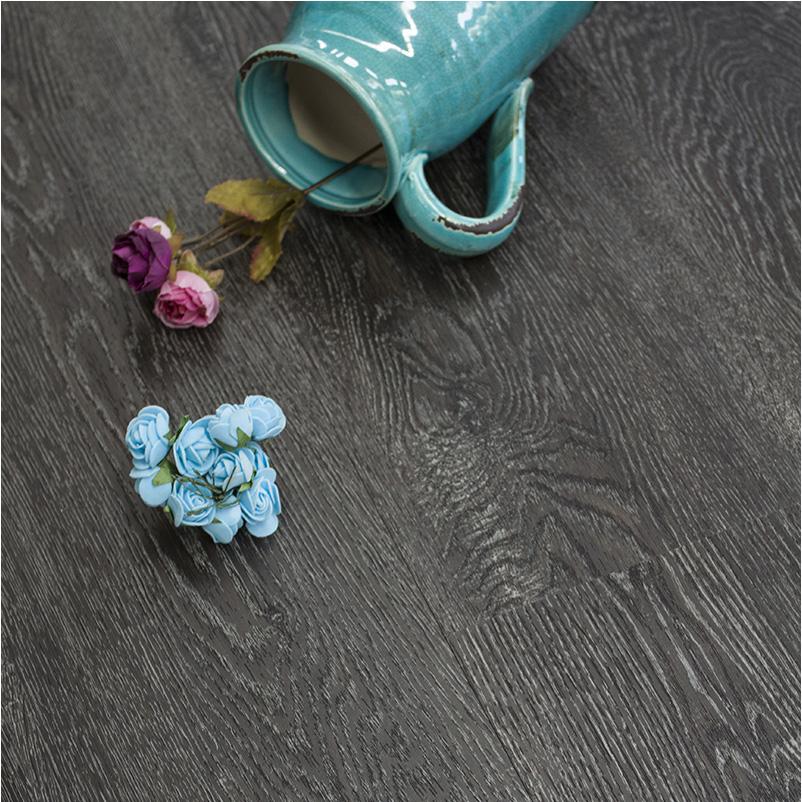sàn nhựa giả gỗ xám đen